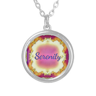 Pretty Inspirational Framed 'Serenity' Silver Plated Necklace