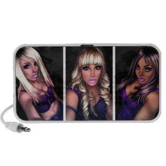 Pretty Internet Girls iPod Speakers