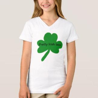 Pretty Irish Lass Shamrock T-Shirt