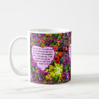 PRETTY ISAIAH 41:10 FLORAL DESIGN COFFEE MUG