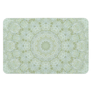 Pretty Ivory and White Rose Floral Kaleidoscope Magnet