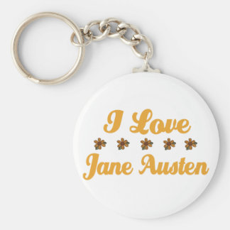 Pretty Jane Austen Lover Keychain