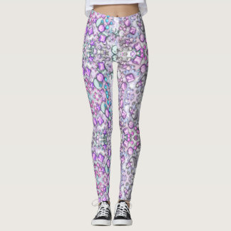 Pretty Jewel Print Pattern Leggings