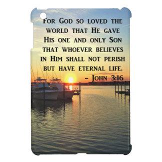 PRETTY JOHN 3:16 SUNSET PHOTO DESIGN iPad MINI CASES
