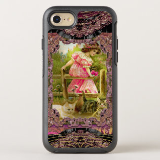Pretty Kittens and Ribbons Girly Victorian OtterBox Symmetry iPhone 7 Case