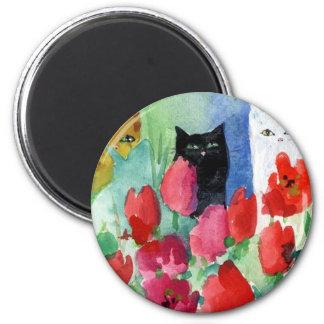 Pretty Kitties 2 Inch Round Magnet