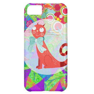 Pretty Kitty Crazy Cat Lady Gifts Vibrant Colorful Cover For iPhone 5C