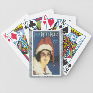 Pretty Kitty Kelly Vintage Christimas Music Santa Bicycle Playing Cards