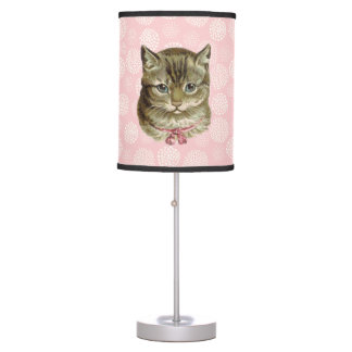 Pretty Kitty Vintage Style Table Lamp