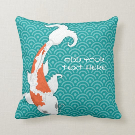 Pretty Koi Throw Pillow