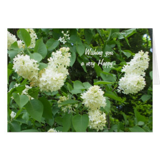 Pretty l White Lilac Bush Card