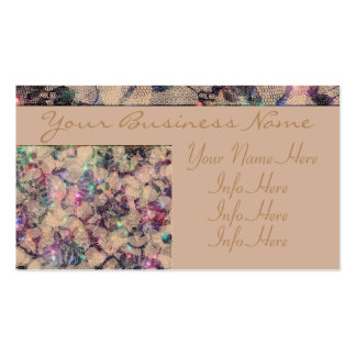 Pretty Lace Roses Pack Of Standard Business Cards