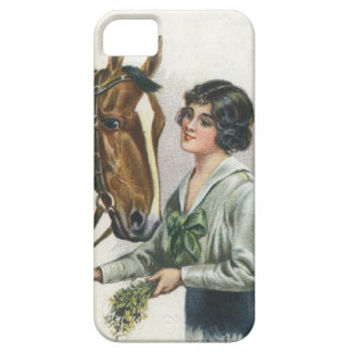 Pretty Lady and Beautiful Horse iPhone 5 Covers