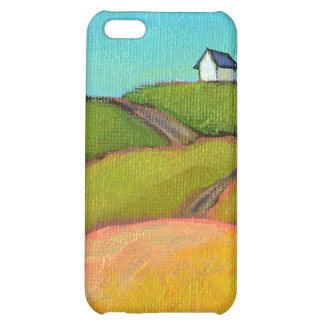 Pretty landscape art little summer house painting cover for iPhone 5C