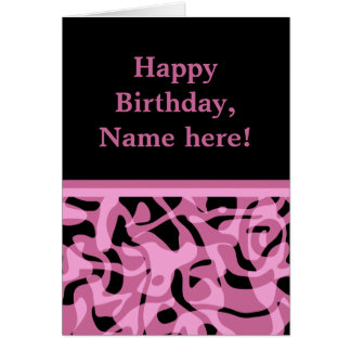 Pretty lavender and black birthday card