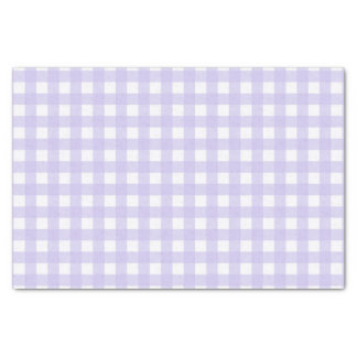 Pretty Lavender Gingham Checked Pattern Tissue Paper