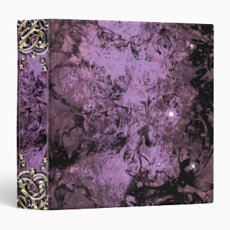 Pretty Lavender Grunge Gold Abstract Fantasy Vinyl Binder