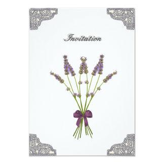 Pretty Lavender Lace Birthday Invitations