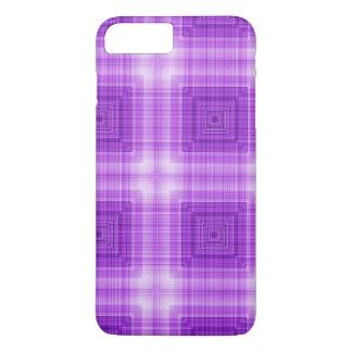 Pretty Lavender Plaid Pattern iPhone 7 Plus Case