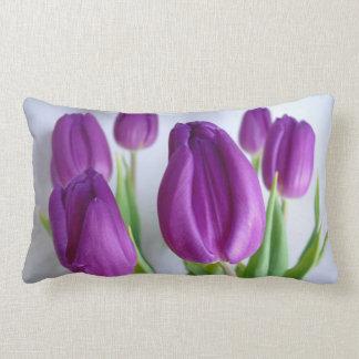Pretty Lavender-Purple Tulips decorator  pillow