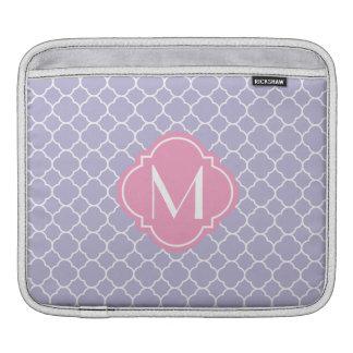 Pretty Lavender Quatrefoil Pattern iPad Sleeves