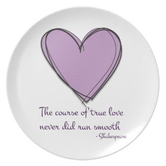 Pretty Lavender The Course of True Love Dinner Plate