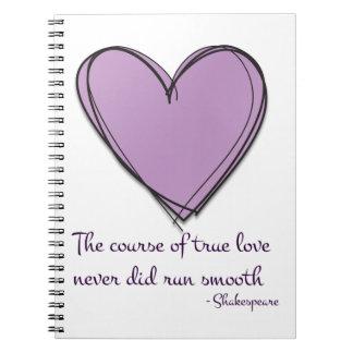 Pretty Lavender The Course of True Love Notebook