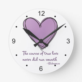 Pretty Lavender The Course of True Love Wallclock