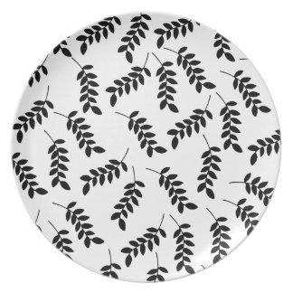 Pretty leaf design Melamine Plate
