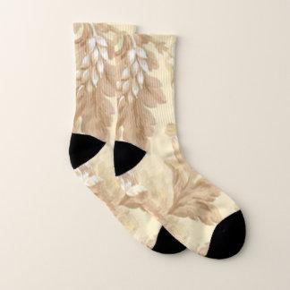 Pretty Leaf  Pattern Socks 1
