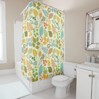 Pretty Leaves Shower Curtain