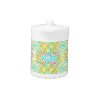 Pretty Lemon Lime Blue Pastel Tribal Pattern