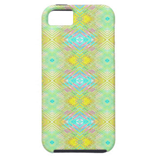 Pretty Lemon Lime Blue Pastel Tribal Pattern Case For The iPhone 5