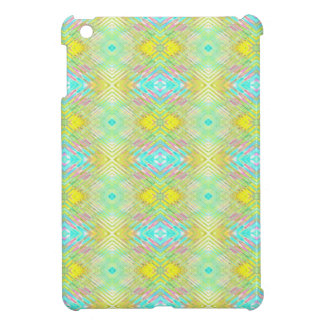 Pretty Lemon Lime Blue Pastel Tribal Pattern iPad Mini Cases
