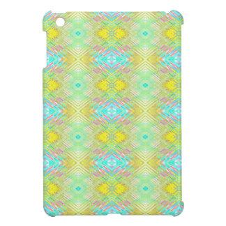 Pretty Lemon Lime Blue Pastel Tribal Pattern iPad Mini Cover