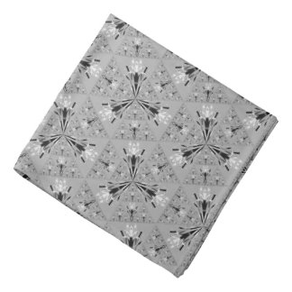 Pretty Light Gray Pattern Bandana