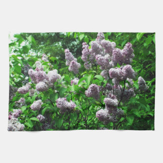 Pretty Lilac Bush Kitchen Towel