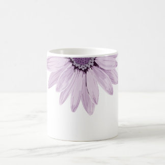 Pretty Lilac Color & Gray Flower Coffee Mug