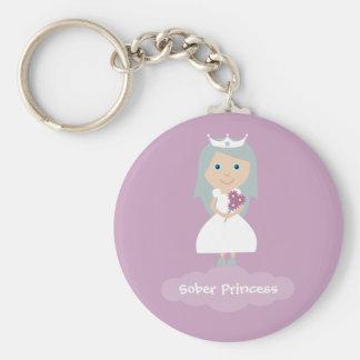 Pretty lilac Sober Princess keychain