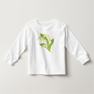 Pretty Lily-of-the-Valley Floral Motif Toddler T-shirt