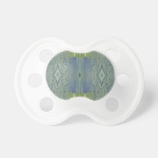 Pretty Lime Blue Artistic Pattern Baby Pacifier