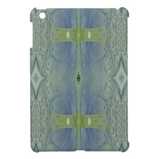 Pretty Lime Blue Artistic Pattern Cover For The iPad Mini
