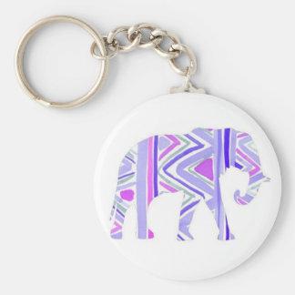 Pretty Little Purple Elephant Keychain