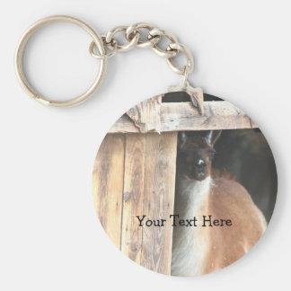 Pretty Llama Farm Animal Keychain