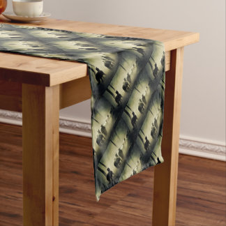 PRETTY LOOKING HORSES SHORT TABLE RUNNER
