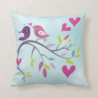 Pretty Love Birds Valentine Pillow