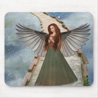 Pretty Magical Angel on Staircase to Heaven Mouse Pad