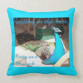 Pretty Male Blue Peacock Throw Pillow