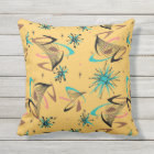 Pretty, Mid Century Modern, Abstract Pattern Throw Pillow