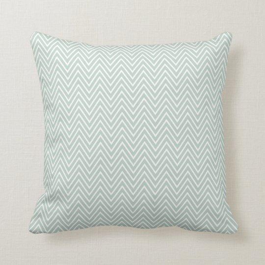 Pretty Mint Chevron Stripes Throw Pillow